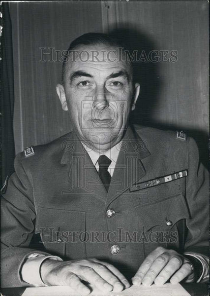 1961 Press Photo General Masse Appointed Commander the Place of Paris - Historic Images