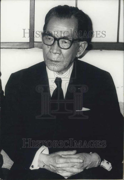 1972 Press Photo Mr Takeo Miki, Minister of Foreign affairs of Japan - Historic Images