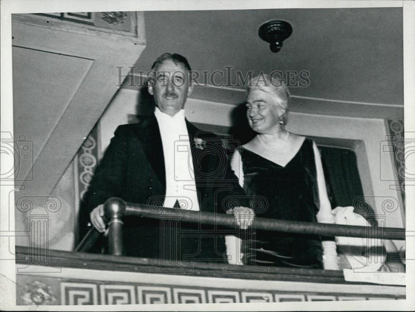 1931 Press Photo Secretary Of State Stimson & Wife At Judilee Ball - RSL58177 - Historic Images