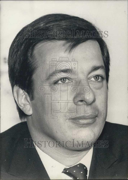 Press Photo Didier Bariani, president of radical Socialist Party in France - Historic Images