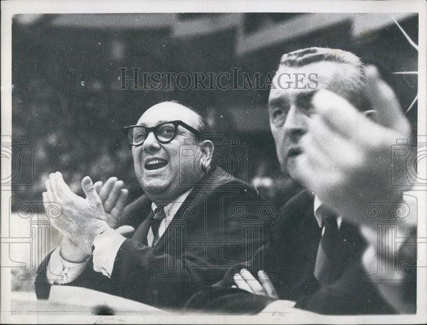 1965 Press Photo Celtics Owner Marvin Kratter Rallies to beat knocks - RSL54417 - Historic Images