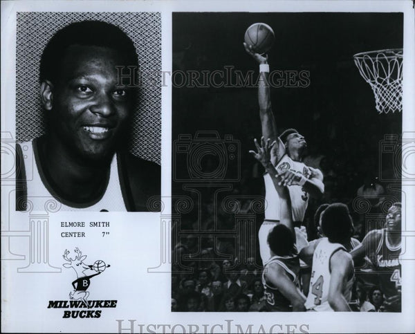 Press Photo Milwaukee Bucks Elmore Smith, Center - RSL73849 - Historic Images