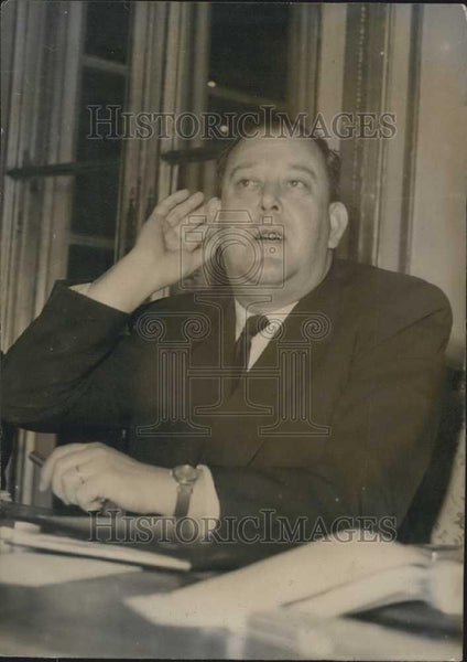 Press Photo Trygve Lie of France - Historic Images