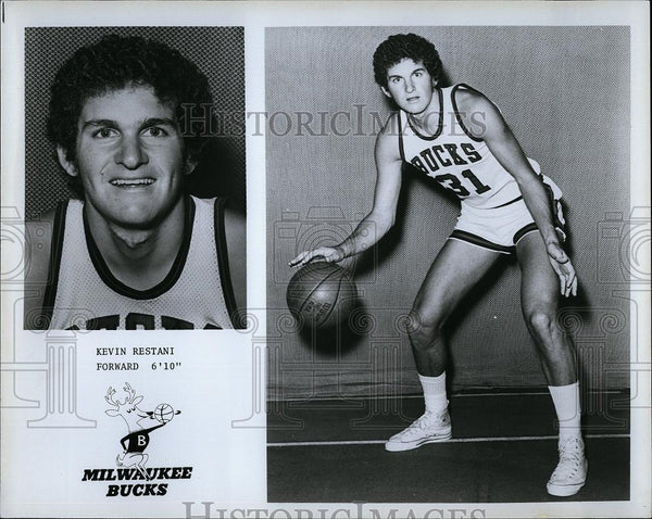 Press Photo Kevin Restani #31 Forward Milwaukee Bucks Basketball Player NBA - Historic Images