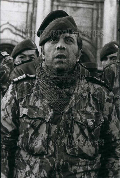 Press Photo Colonel Jaime Neves, commander of regiment in Lisbon - Historic Images