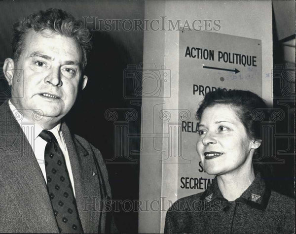 Press Photo Colonel Bourgoin & Nicole de Hautecloque - Historic Images