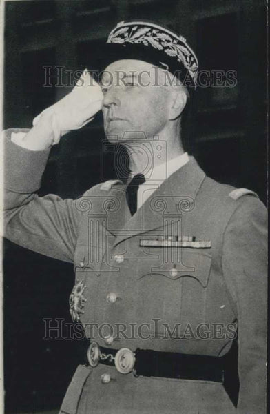 1962 Press Photo General De Guilleson, French commander in Algeria - Historic Images