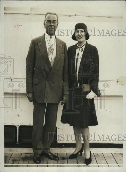 1929 Press Photo Senator & Mrs Daniel Lane of Boston - RSL45611 - Historic Images