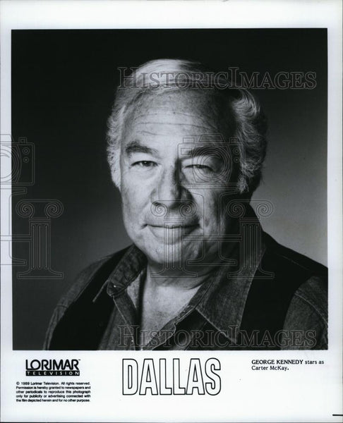 "1991 Press Photo George Kennedy as Carter McKay in ""Dallas"" - RSL92869 - Historic Images"