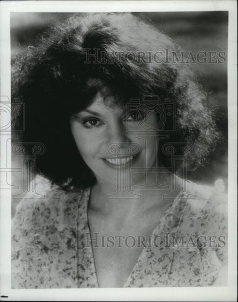 Press Photo Marsha Mason Actress Smiling Wearing Dress - RSL79469 - Historic Images