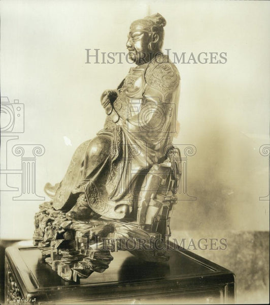 1922 Press Photo Statue of Confucius or King Fu Taze - RSL01585 - Historic Images