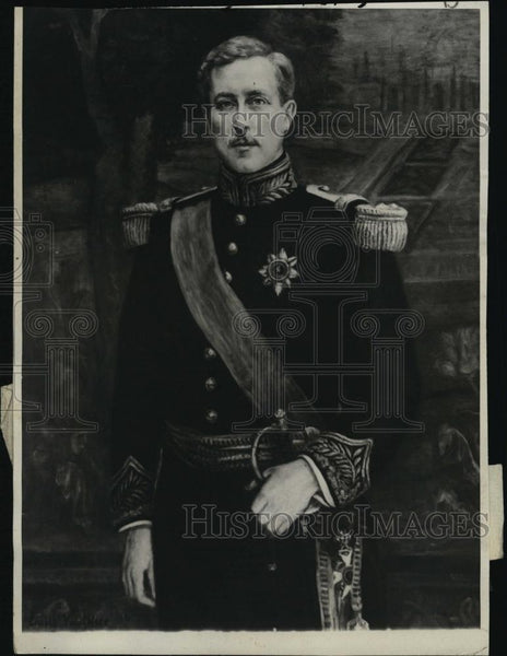 1929 Press Photo Belgian King Albert Portrait By Emile Vauthier - RSL41447 - Historic Images