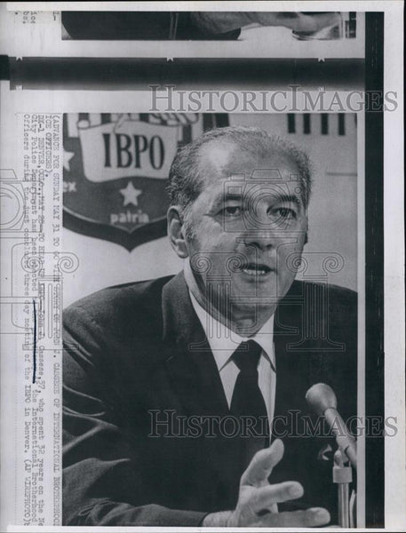 Press Photo John J Cassese Police Department International Brotherhood - Historic Images