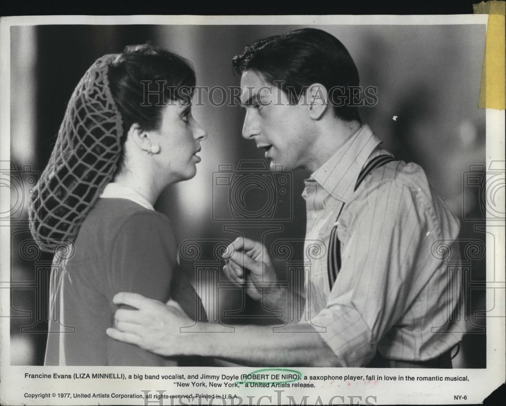 1977 Press Photo Actor Robert de Niro , Liza Minelli in