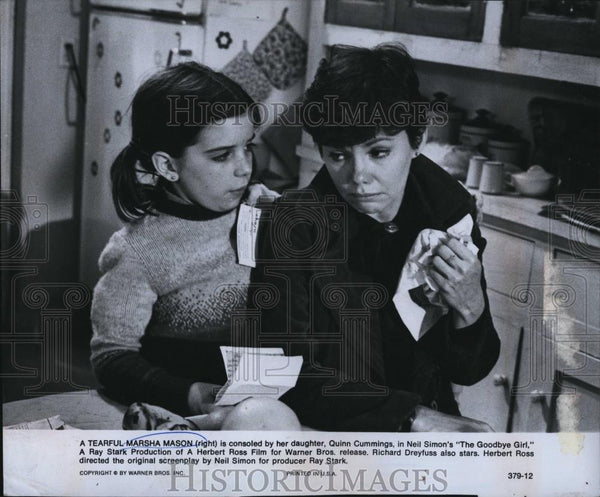Press Photo Marsha Mason Quinn Cumming Actress The Goodby Girl - RSL89401 - Historic Images