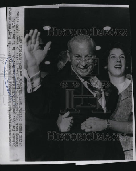 1966 Press Photo George P Mahoney, winner in Maryland primary for governor - Historic Images