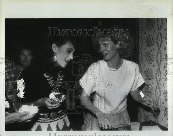Press Photo Marisa Berenson and Blythe Danner Actresses - RSL07843 - Historic Images