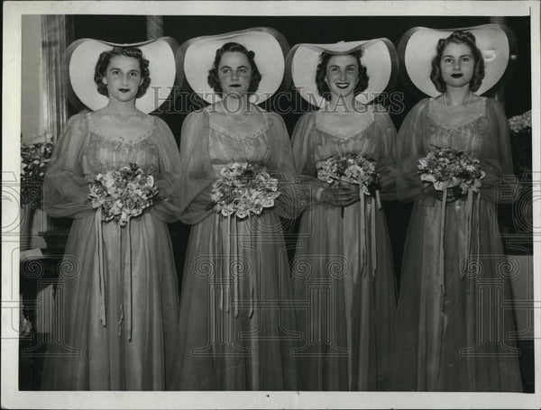 1940 Press Photo Lydia Fuller, Rita Lockwood, Mary Filler, Hope Halsey - Historic Images
