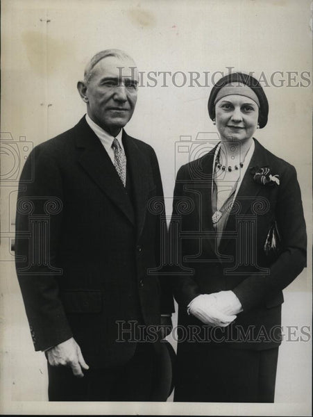 1930 Press Photo Fred A And Mrs Britten, Illinois Congressman - RSL80049 - Historic Images
