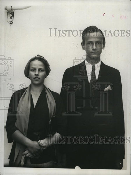 1931 Press Photo Sarah, Seward Brisbane, Children Of Arthur Brisbane, Editor - Historic Images