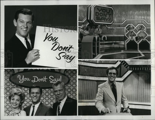 Press Photo Tom Kennedy, TV Host, You Don't Say Game Show, B Garland, L Marvin - Historic Images