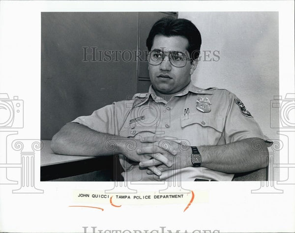 Press Photo John Quicci, Tampa Police Department - RSL68861 - Historic Images