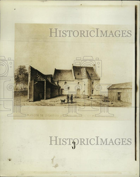 1934 Press Photo Jacques Cartier's Manor Limoulou France - RSL42939 - Historic Images
