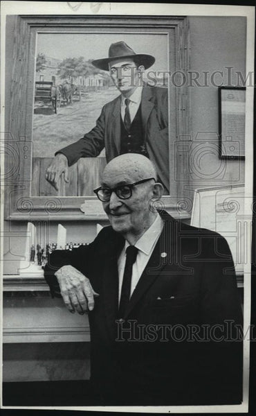 1972 Press Photo Ex Senator, Carl Hayden of Arizona - RSL45727 - Historic Images