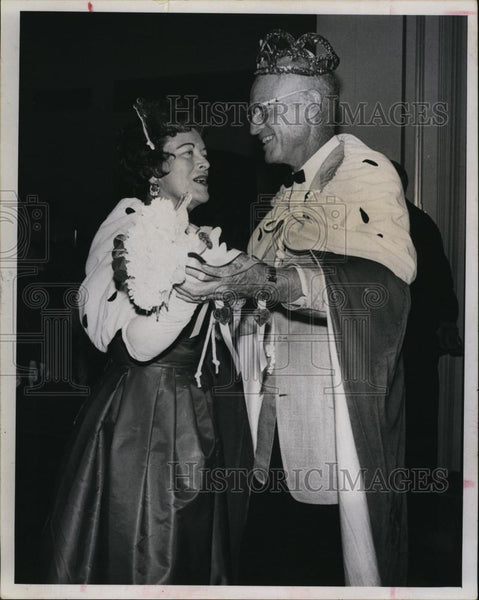 1967 Press Photo Freda Anderson, Harry Bittenbender, King, Queen Valentine Ball - Historic Images