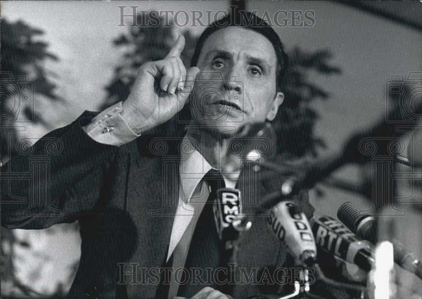 1974 Press Photo Presidential Campaign Jean Royer Speaking - Historic Images