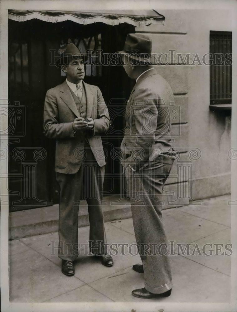 1934 Press Photo Bucky Harris, Boston Red Sox Manager, Former Senators Manager - Historic Images