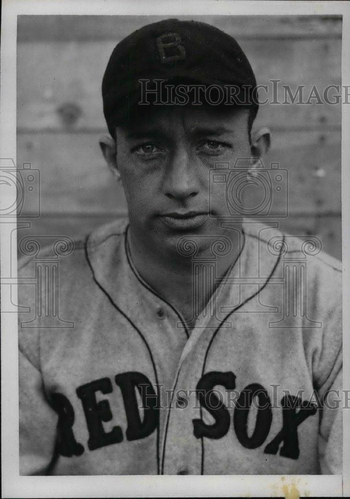 1934 Press Photo Red Sox catcher Gordon Hinkle in Sarasota, Fla - nea06647 - Historic Images