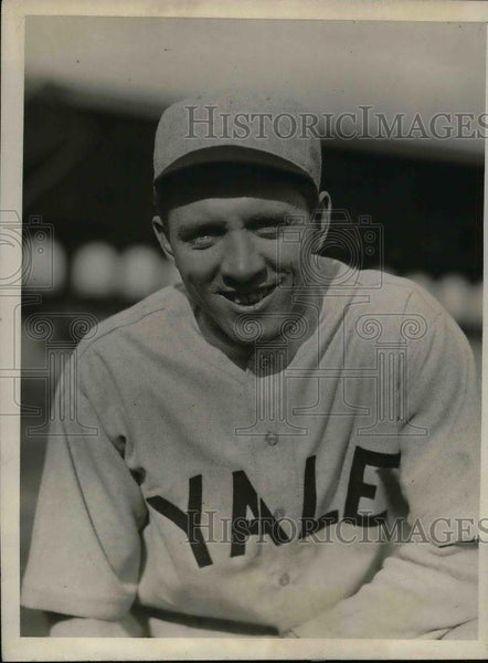 1930 Press Photo John Red Beyer Captain Yale College Baseball Spring Training - Historic Images