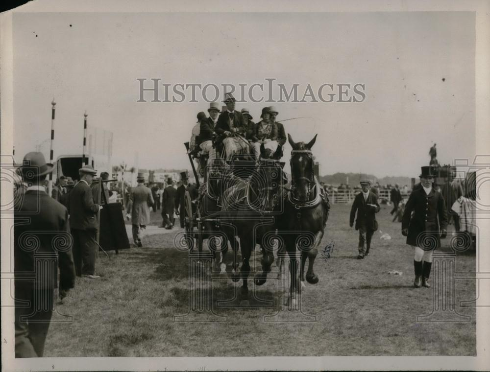 1929 Press Photo Royal Ascot arriving on course - Historic Images