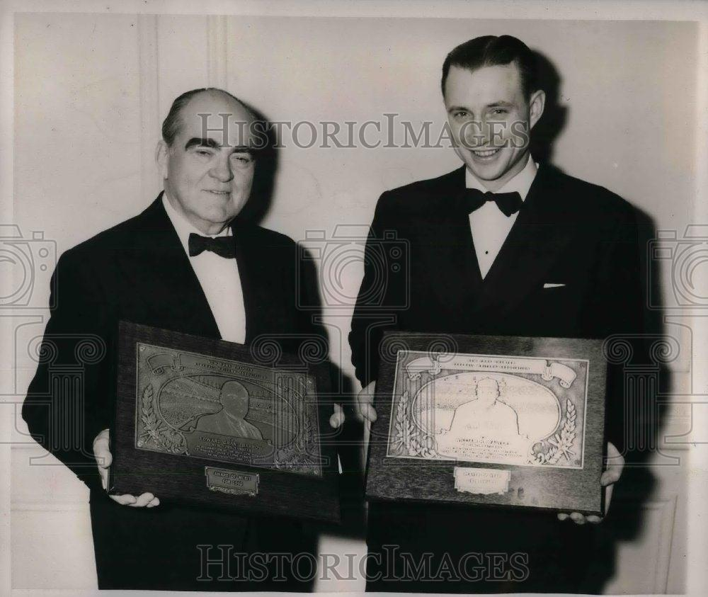 1940 Press Photo New York Yankees President Edward Barrow & Bucky Walters Reds - Historic Images