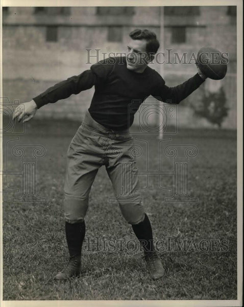 1929 Press Photo Carnegie I of Tech football, QB Peter Stauffer - nea13057 - Historic Images