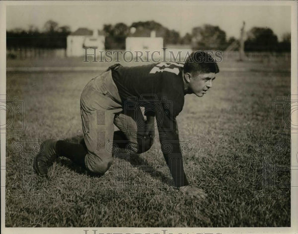 1928 Press Photo Hugh Starling (Runningback) posing for a pitcture for - Historic Images