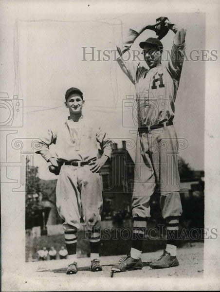 1929 Press Photo Frank Bowman Star Pitcher Hughes High School Baseball Team - Historic Images