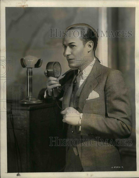 1931 Press Photo Ted Husing Columbia Broadcasting announcer, sportscaster. - Historic Images