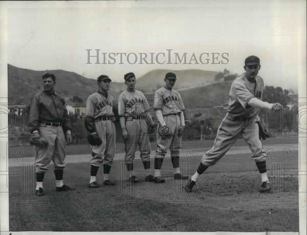 1936 Press Photo Chicago baseball, Grimm,Vines,Hutchings,Ford,Flowers,Wanelse - Historic Images