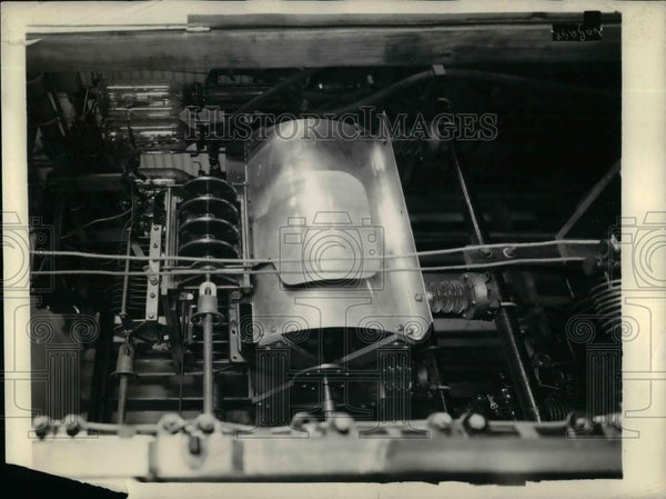 1929 Press Photo Machinery Operating At 31.58 Meters - nea16063 - Historic Images
