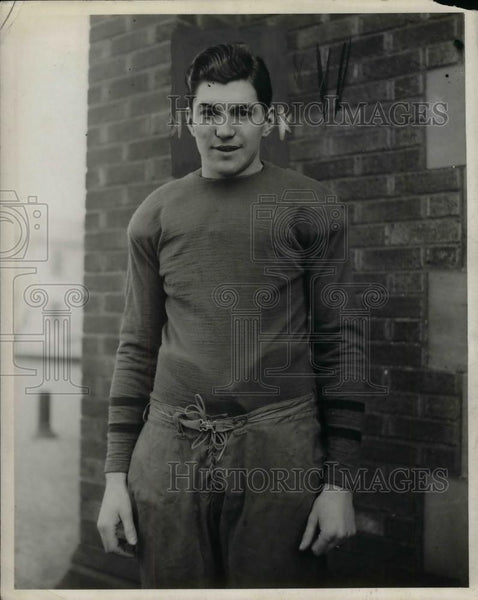 1927 Press Photo Joe Leary, Marquette University fullback and team captain - Historic Images