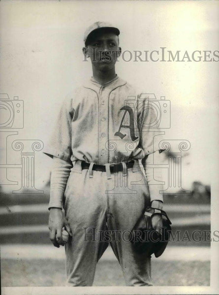 1929 Press Photo Phil Wagner, rookie pitcher, Philadelphia A's - nea08076 - Historic Images