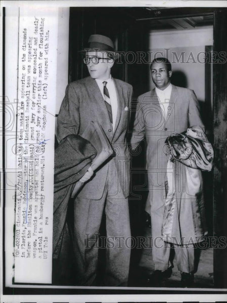 1961 Press Photo Frank Robinson of Reds appeared in Hamilton County Jury. - Historic Images