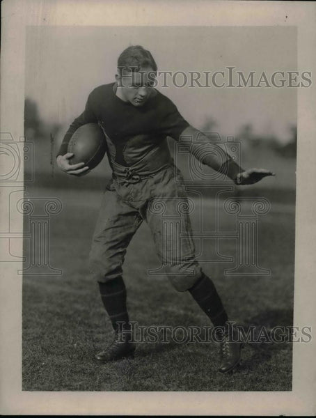 1922 Press Photo Johnny Garman, Quarterback of Princeton Univ.Football Team. - Historic Images