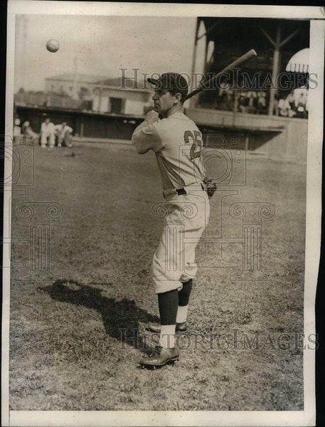 1934 Press Photo Bucky Harris, Manager of the Boston Red Sox. - nea09797 - Historic Images