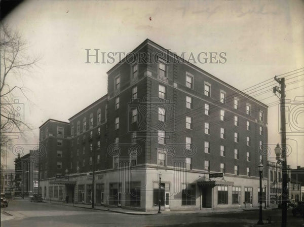 1936 Press Photo Castleton Hotel in New Castle Pennsylvania. - nea26580 - Historic Images