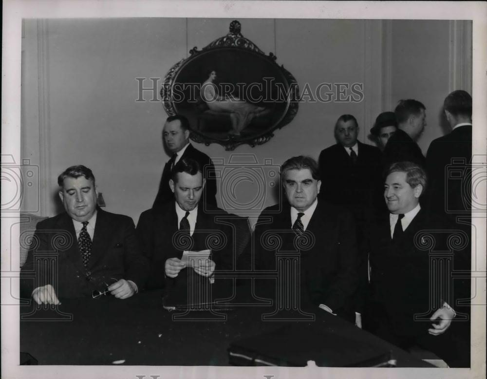 1939 Press Photo Attending Coal Conference Charles O'Neil; Dr. J. Steelman - Historic Images