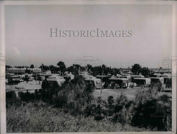 1937 Press Photo Army of Trailers in St. Petersburg, Florida - nea20344 - Historic Images