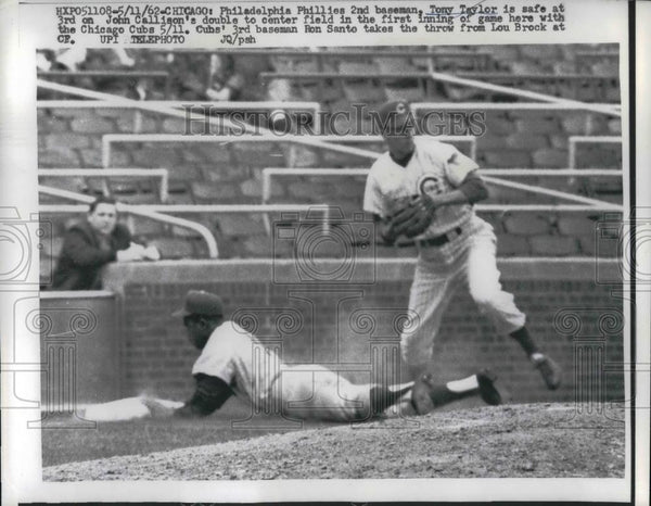 1962 Press Photo Phillies 2nd Baseman Tony Taylor - nea24326 - Historic Images